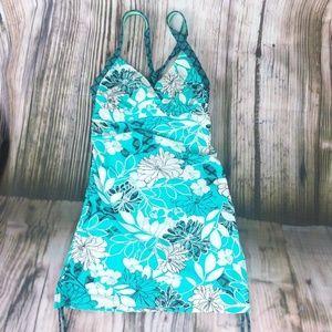 Athleta Haiku Shirred Swim Dress 36B/34C